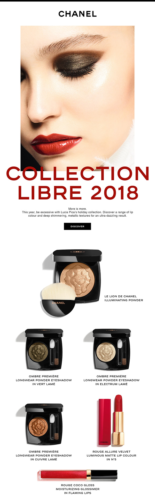 Discover CHANEL COLLECTION LIBRE 2018.
